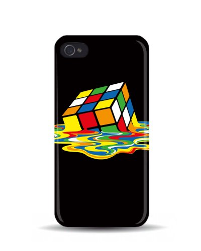 iPhone 5/5S Motif 'Melting Rubik's Cube'Big Bang Theory Coque 3D, Coques iphone