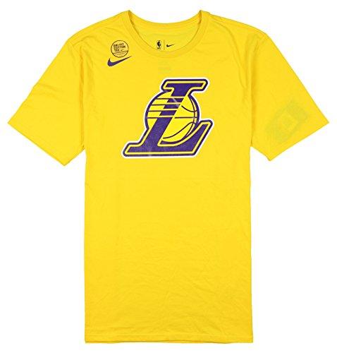Nike Herren Los Angeles Lakers Team Logo T-Shirt Large Yellow Purple