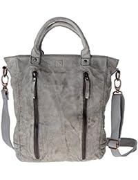 DuDu 580-1080-23 - Bolso al hombro de Piel para mujer Gris gris compact