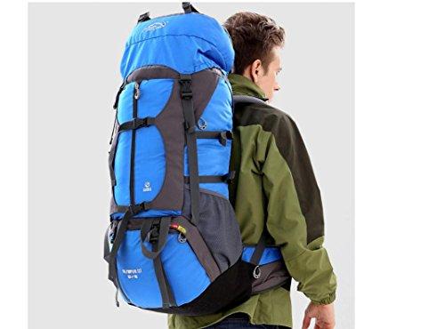 ROBAG Outdoor-Rucksack wandern camping Bergsport-Taschen-Umhängetaschen für Männer und Frauen 65L blue