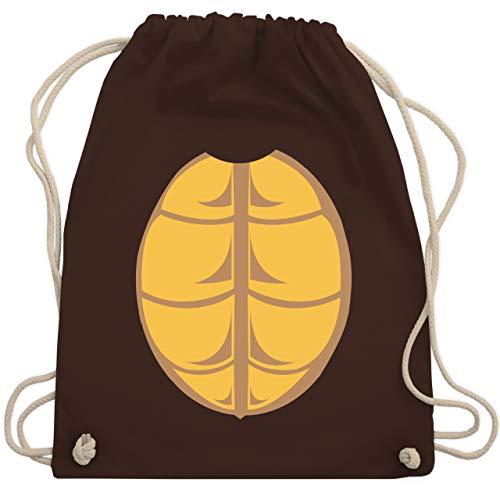 Karneval & Fasching - Kostüm Schildkröte - Unisize - Braun - WM110 - Turnbeutel & Gym Bag