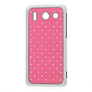 Hardcase / Hülle Huawei Ascend G510 BLING STRASS pink / Chrom Schutzhülle Case Back Cover Schale