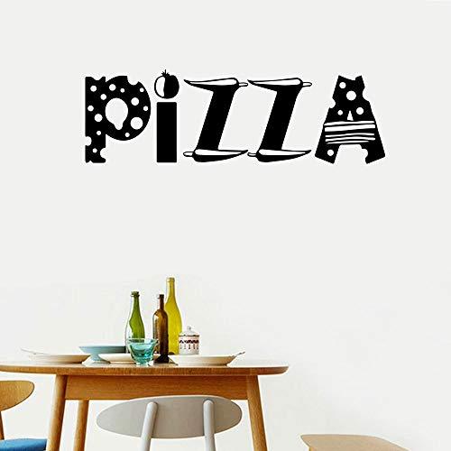 Pizza Pizza wandaufkleber Wohnzimmer Schlafzimmer Hintergrund wanddekoration Aufkleber großhandel abnehmbare Dekoration 41 * 129 cm