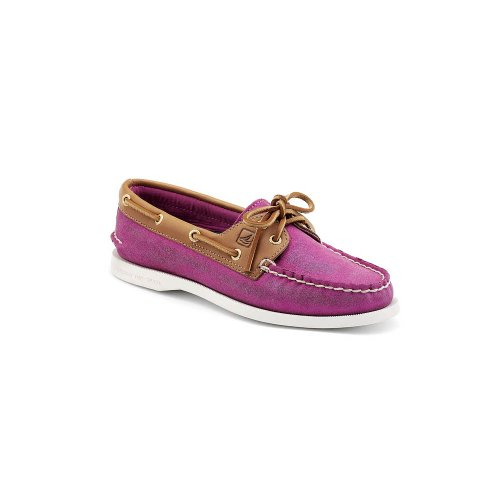 Sperry Damen A/o 2-Eye Leather Bootschuhe Pink Sparkle Suede-Cognac