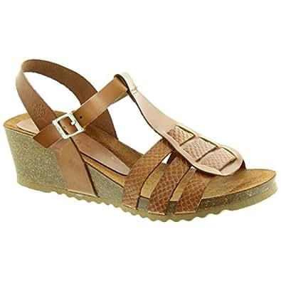 Cadiz Yokono - 031 Wedge Sandals Marron - Marron - Brun,