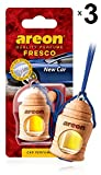 AREON Fresco Car Air Freshener New Car Smell Scent 4 Milliliters Multi Pack