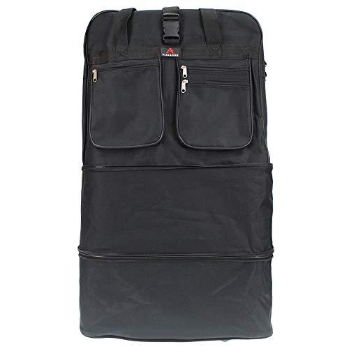Alexander Bolsa de Viaje Extra Mochila Extensible con Ruedas 91x48x33 cm Capacidad de 144L (Negro) 9015-36NE