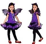 Costume Bambina Pipistrello - Vampira - Travestimenti per bambini - Halloween - Carnevale - Taglia M - 5-7 anni - Idea regalo originale