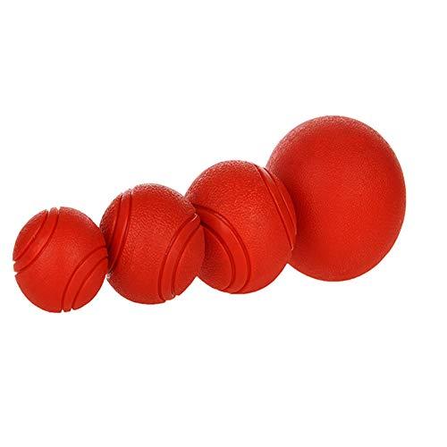 MLQ 4 Stücke Vollgummi Hundekugeln Welpen Vollgummi Spielzeug Ball Hundespielzeug Biss Beständig Molaren Großen Hund Golden Retriever Hund Pet Bouncy Ball Durable Tough Chew Spielzeug -