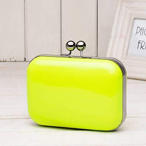 wlbag Designer-Handtaschen für Frauen Candy Color Fluorescent Retro Ketten Diagonal,Gras-Grün,15 * 5 * 10 cm