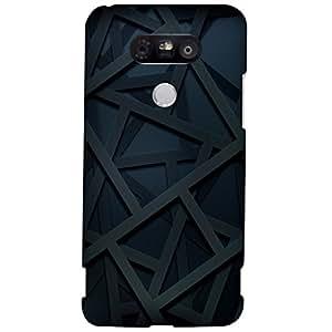 URBAN KOLOURS Original Designer Printed Hard Case Back Cover for LG G5 (Zig Zag Lines)