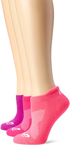 ASICS Women's Cushion Low Cut Sock (Pack of 3), Medium, Knockout Pink (Asics Socken Low-cut)