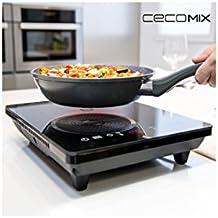 Placa de Inducción Portátil Cecomix Full Crystal 8001