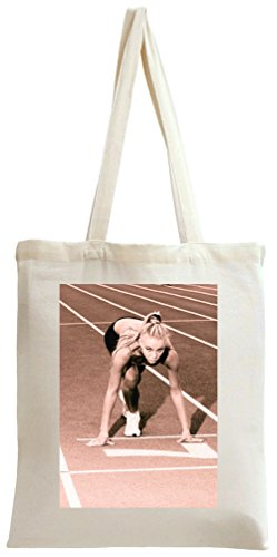 Sprint Woman Tote Bag -