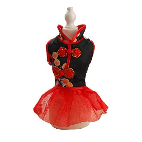 Haustier Kleidungs Hochzeits Kleid Elegante Klassische Cheongsam Art Gestickte KnöPfe Hunde Katzen GemüTliches Rock - Hunde Kostüm Für Staffies