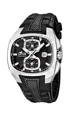 Reloj Lotus 15753/2 de cuarzo para hombre con correa de piel, color negro de Lotus