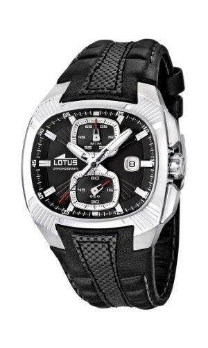 Lotus - 15753/2 - Montre Homme - Quartz Analogique - Chronomètre - Bracelet Cuir Noir