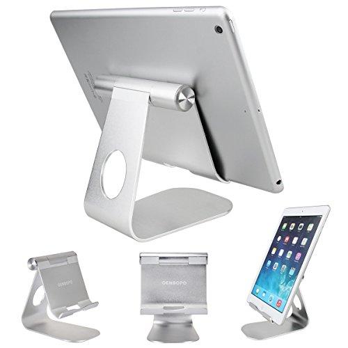 Oenbopo Tablet-Ständer, 360° drehbar, Aluminium, Tischständer für iPhone, iPad, Tablet, Navigationsgerät