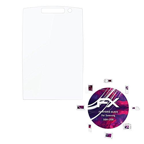 Samsung SGH-i200 Glasfolie - atFoliX FX-Hybrid-Glass hartbeschichtete elastische 9H Kunststoffglas Folie