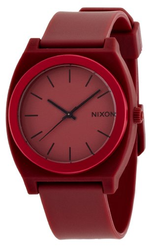 Nixon na1191298 – 00 – Wristwatch men's, Rubber Strap Red