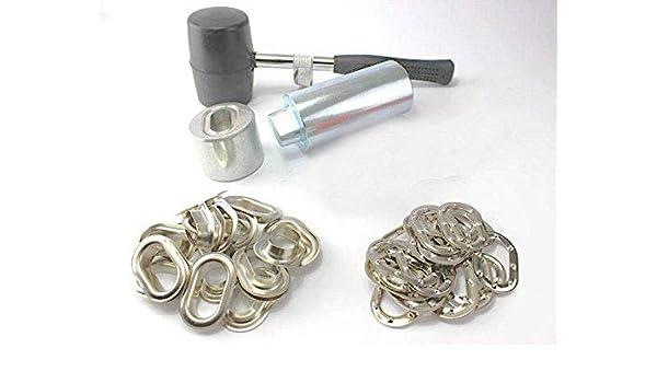 20 Oval/ösen Messing Nickel rostfrei Oval /Ösen Einschlagstempel Locheisen 22,5 x 13,5 mm