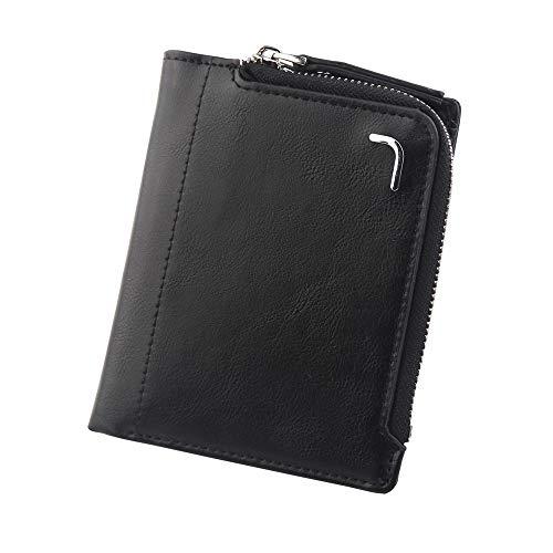 Geld-Clips Brieftasche Tasche Kartenpaket Kreditkarteninhaber Reißverschluss-Geldbörse Herrenbrieftaschen Brieftasche Einfache Geldbörse Black - Brieftaschen, Geld Clip Brieftasche