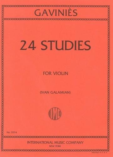 Gavinis: 24 Studies (ed. Galamian) (Violin Solo)