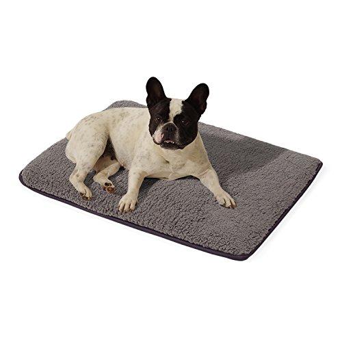 """Homeoutfit24 """"Malu"""" kleine Hundedecke waschbar, hygienisch und rutschfest, Hundematte passend für die Rückbank im Auto in Grau, Größe S"""