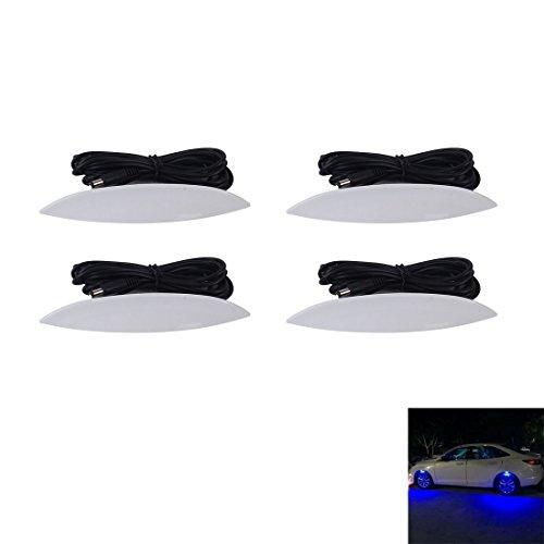 Luci di alta qualità, 4 STÜCKE Auto Lkw LED Radleuchten Reifen Licht Augenbraue Form Dekorative Lichter Kit Atmosphäre Lampe 3 Modus DC 12-24 V ( Farbe : Blue light ) (Lkw-innenraum-licht-kit)