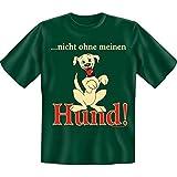 spaßiges Sprüche Tshirt ... nicht ohne meinen Hund Gr XXL Fb grün