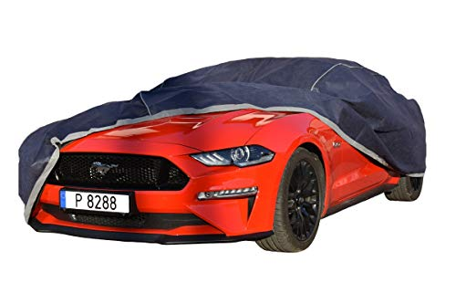 TXTrade Autoplane Mustang - Herbst-Winter Autoabdeckung Wasserdicht Atmungsaktiv + Wasserdichter Sack