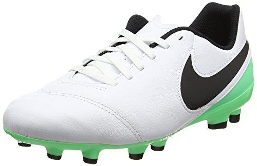 promo code 01a91 739de Nike Unisex-Kinder Jr Tiempo Legend VI FG Fußballschuhe, Mehrfarbig  (White Black