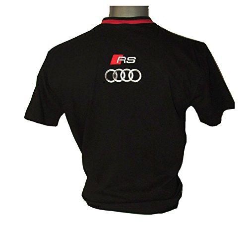 DG-Vision Audi RS Schwarz Logo Emblem Auto Moto T-Shirt Polo Shirt Alle Größen (S) (Auto-logo-t-shirt)