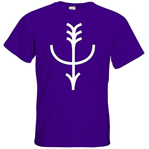 getshirts - Das Schwarze Auge - T-Shirt - Götter - Symbole - Firun Purple