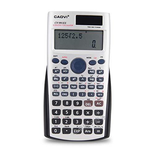 QIA Wissenschaftlicher Taschenrechner 2-zeiliges LCD-Display Große Taste 12-stelliger elektronischer Solar-Tischrechner Student 240-Funktionsrechner 12-taste Lcd