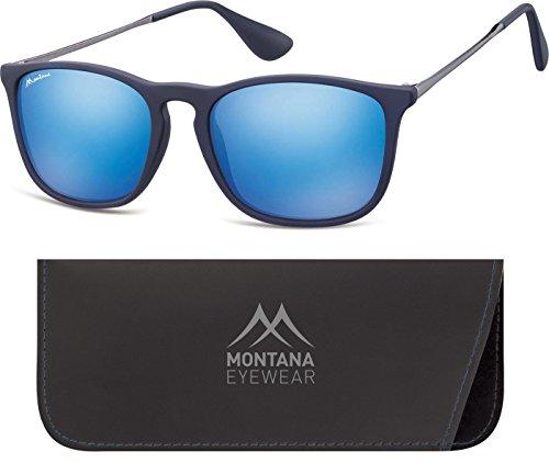 Montana Eyewear Sunoptic MS34A Sonnenbrille in blau aus Kunststoff, inklusive Softetui