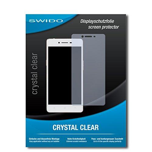 SWIDO Bildschirmschutz für Oppo R7 Lite [4 Stück] Kristall-Klar, Hoher Härtegrad, Schutz vor Öl, Staub & Kratzer/Schutzfolie, Bildschirmschutzfolie, Panzerglas Folie