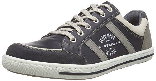 Rieker 19008 Sneakers-Men, Herren Sneakers, Blau (ozean/chalk/atlantis/staub/staub/14), 43 EU