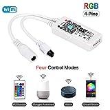 Magic Mini RGB wifi Controller für LED Strip/Streifen Kompatibel mit Alexa, Google Home, IFTTT, IR Fernbedienung Steuerung, 16 Mio Farben, 20 Dynamische Modi