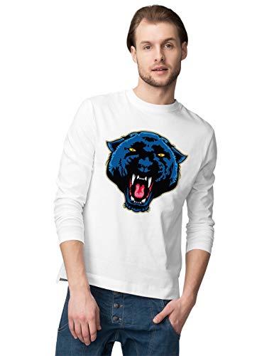 BLAK TEE Angry Panther Face Herren Langarmshirt