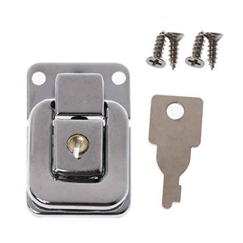VIccoo Metall Schmuck Box Lock Koffer Schnallen Toggle Haspe Latch Catch Verschluss mit Schlüssel