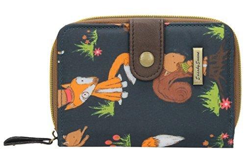 Brieftasche, Motiv Freddie Fuchs und Eichhörnchen, klein, zum Aufklappen (Brieftaschen Animal-style)