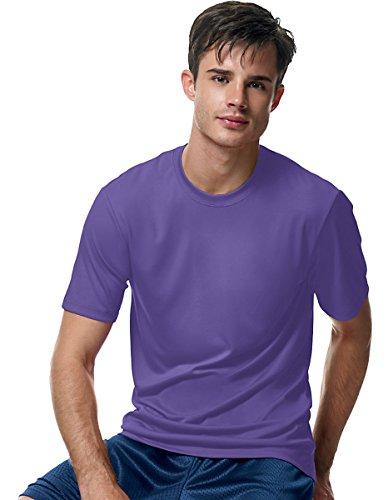 Hanes Cool Dri Tagless Mens T-Shirt Purple