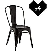 SKLUM Lot De 4 Chaises LIX Noir