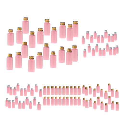 Sharplace 100 Pièces 30ml Flacons Bouteilles Vides en Plastique de Cosmétique Maquillage Rechargeable avec Couvercle pour Avion Voyage