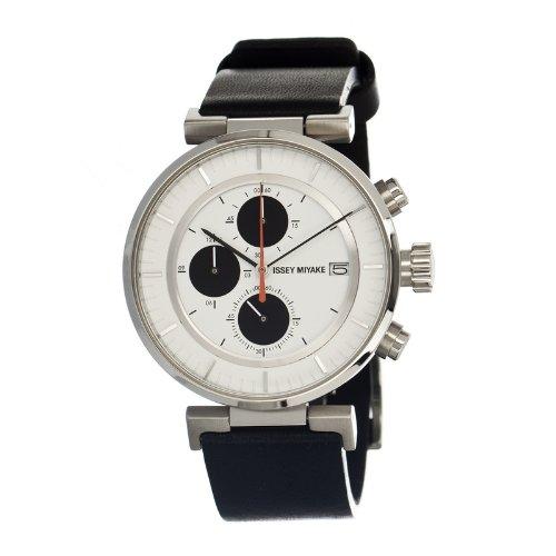 Issey Miyake SILAY003 - Reloj para hombres, correa de metal color negro