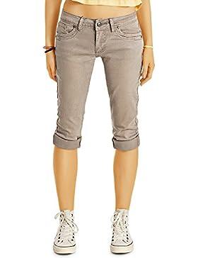 Bestyledberlin Damen Capri-Jeans, 3/4-lange Capri-Hosen, kurze Slim Fit Jeans j30k