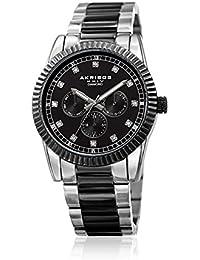 Akribos XXIV Men's Swiss Quartz Stainless Steel Casual Watch, Color Two Tone (Model: AK958TTB)