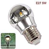 Ganquer Halb Versilbert E27 E14 Shadowless LED Glühbirne Home Energiesparende Warmes Weiß 5W 7W - Warmes Weiß, e14 5w