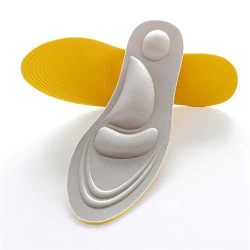 Ruixinde 4D Sport Schwamm Weiche Einlegesohle Schmerzlinderungseinsatz Schuhe Pad Speicher Baumwolle Einlegesohlen 1 Paar (Color : 4) -